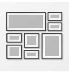 Blank Picture or Foto Frame for Interior vector image