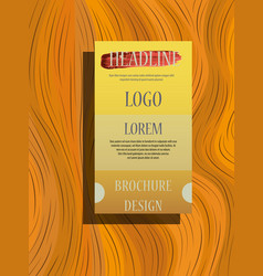 brochure design brochure template creative vector image