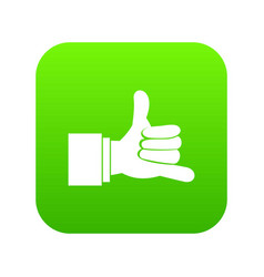 call me gesture icon digital green vector image