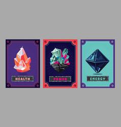 Card deck collection game art fantasy ui kit vector