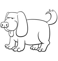cartoon dog animal character color book vector image