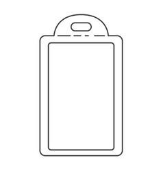 chopping board utensil monochrome silhouette vector image