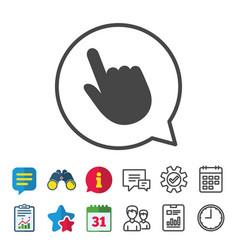 Click pointer icon hand cursor sign vector