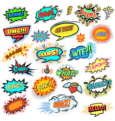 comics design elements vector image