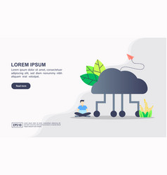 concept cloud computing modern conceptual for vector image