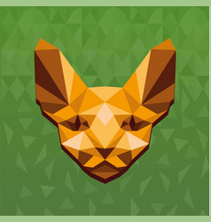 concept of polygonal sphinx vector image