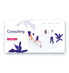 consulting for company vector image