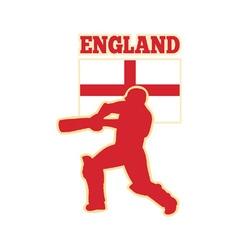 Cricket batsman england vector