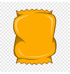 Crumpled packaging icon cartoon style vector