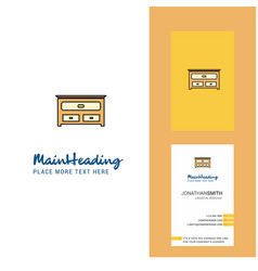 cupboard creative logo and business card vertical vector image