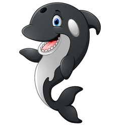 Cute killer whale cartoon vector