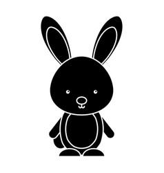 Cute rabbit woodland animal vector