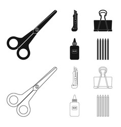 Design of office and supply icon vector