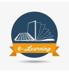 E-learning icon design vector