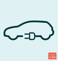electric car icon vector image