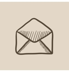 Envelope sketch icon vector image