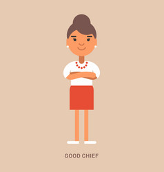 Expressions and emotions good chief smiling vector