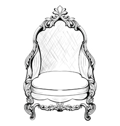 Exquisite Fabulous Imperial Baroque armchair in vector image