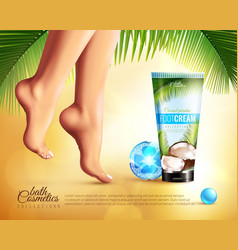 Feet care ad poster vector