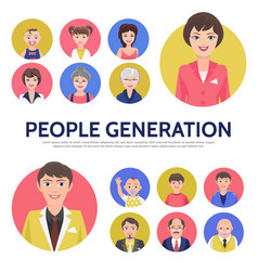 flat people generation avatars composition vector image