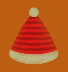 flat shading style icon striped hat vector image