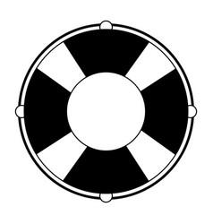 Float lifesaver cartoon isolated symbol in black vector