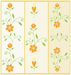 floral pattern with flower and leaves vector image