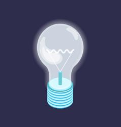 fluorescent lightbulb energy saving bulb new vector image