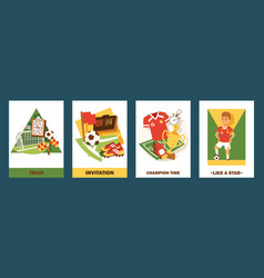 football cards set invitation vector image