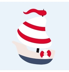 Funny sailing ship vector