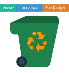 Garbage container with recycle sign icon vector image