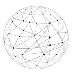 Globus logistics traffic vector image