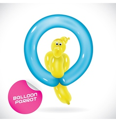 Glossy balloon parrot vector