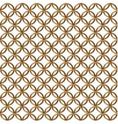 gold geometric circle seamless pattern on white vector image