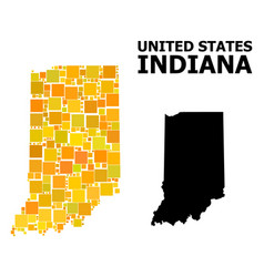 Golden square pattern map indiana state vector