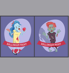 halloween night collection on vector image