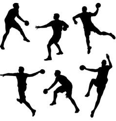 Handball player vector