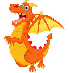 Happy red dragon cartoon vector