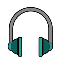 Headphones audio equipment accessory icon vector