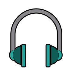 Headphones audio equipment accessory icon vector