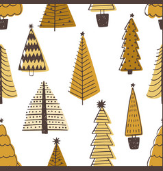 holiday seamless pattern with different christmas vector image