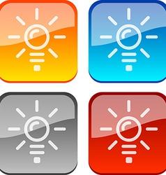Idea buttons vector image