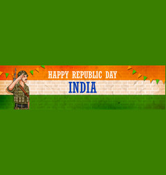 indian army soilder nation hero on pride vector image