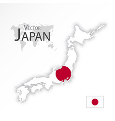 Japan map and flag vector