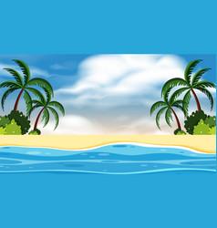 landscape background design seaside at daytime vector image