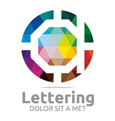 Lettering d rainbow alphabet design vector