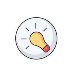 light bulb rgb color icon vector image