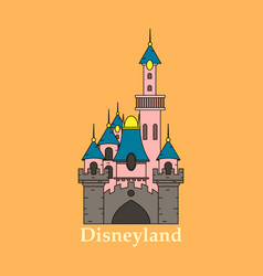 logo or label disneyland line style logotype easy vector image