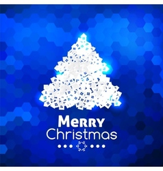 Merry Christmas card abstract blue background vector image