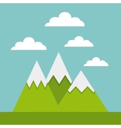 Mountains landscape beautiful icon vector